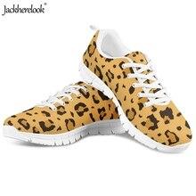 Jackherelook Cheetah Leopard Printed Female Summer Air Mesh Sneakers Breath Woman Flats Shoes Casual Lightweight Flat Ladies