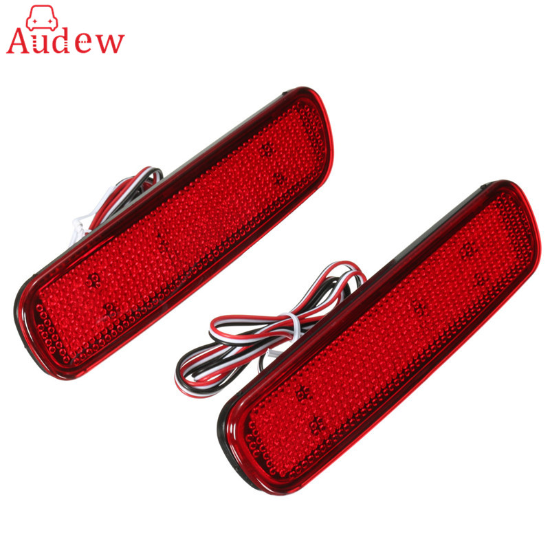 2x 36LED Rear Bumper Reflector Light Tail Brake Stop DRL Fog Light Lamp For Toyota Land Cruiser/Lexus LX470