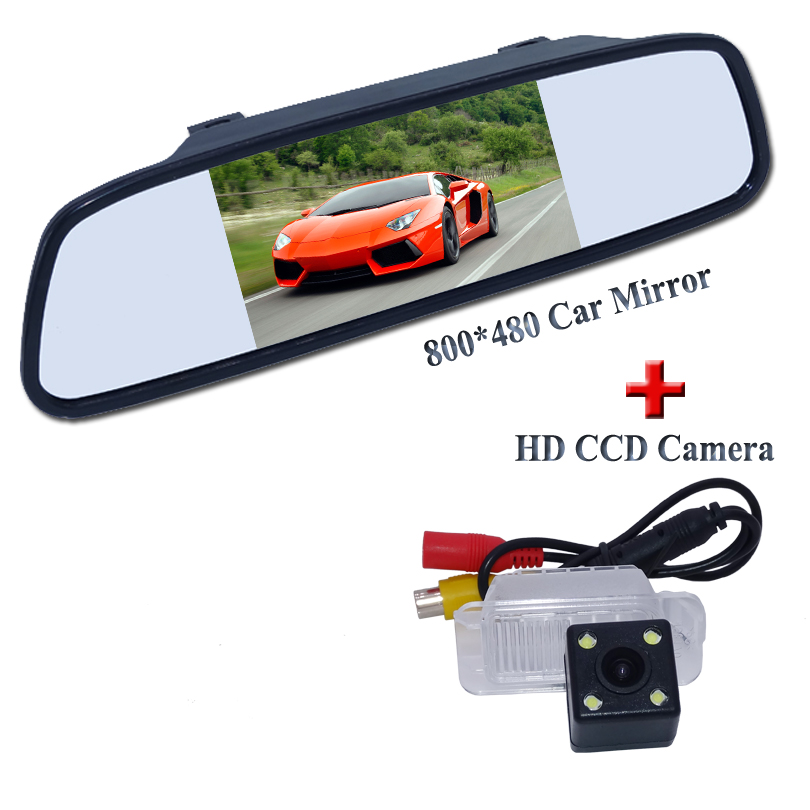 CCD HD Car rearview camera for Ford Mondeo/ Focus- Hatchback 2009 Fiesta /S-MAX reverse backup camera +5 car monitor mirror