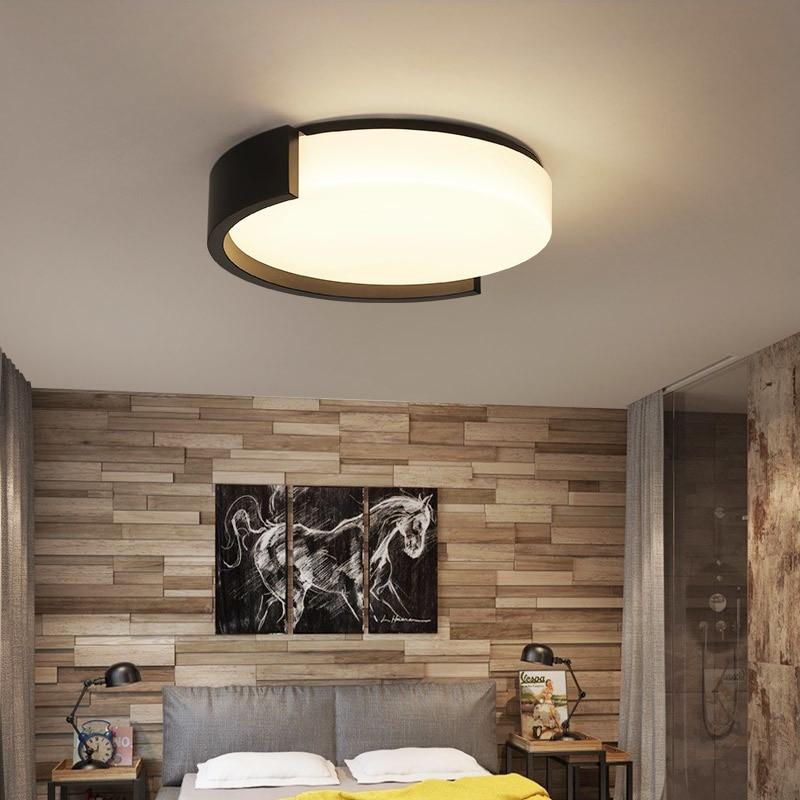 2018 Modern Ceiling Lights White/Black Iron frame Surface mount LED Ceiling lamp for bedroom Living room lamparas de techo