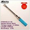 MXITA 9X12 2 20Nm Genauigkeit 3% Hohe präzision professionelle Einstellbare Drehmomentschlüssel auto Spanner auto Fahrrad reparatur handwerkzeuge-in Schraubenschlüssel aus Werkzeug bei