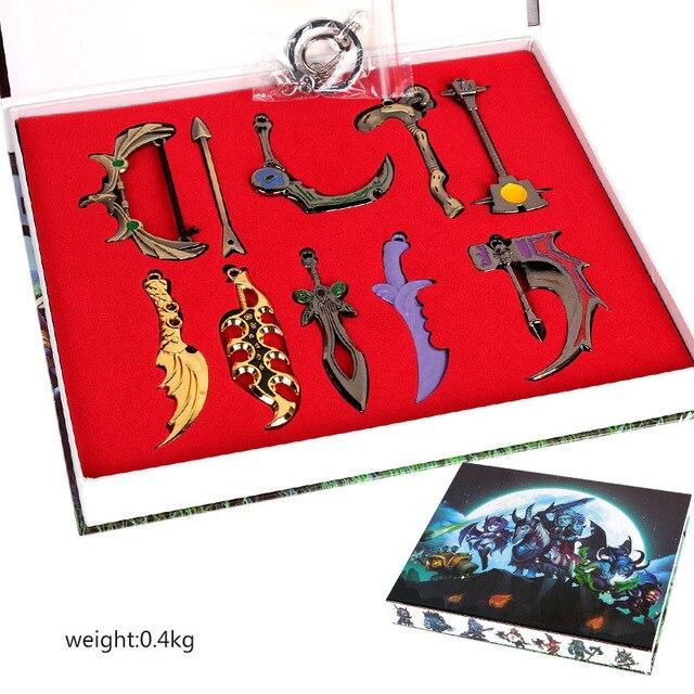 Набор металлических брелоков оружие из игры Dota 2 в ассортименте 2