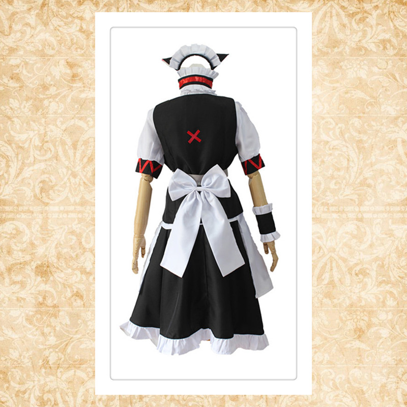 Faris Nyanyan cosplay costumes Maid wear Japanese anime Steins Gate 0 clothing Halloween costumes women dresses in Game Costumes from Novelty Special Use