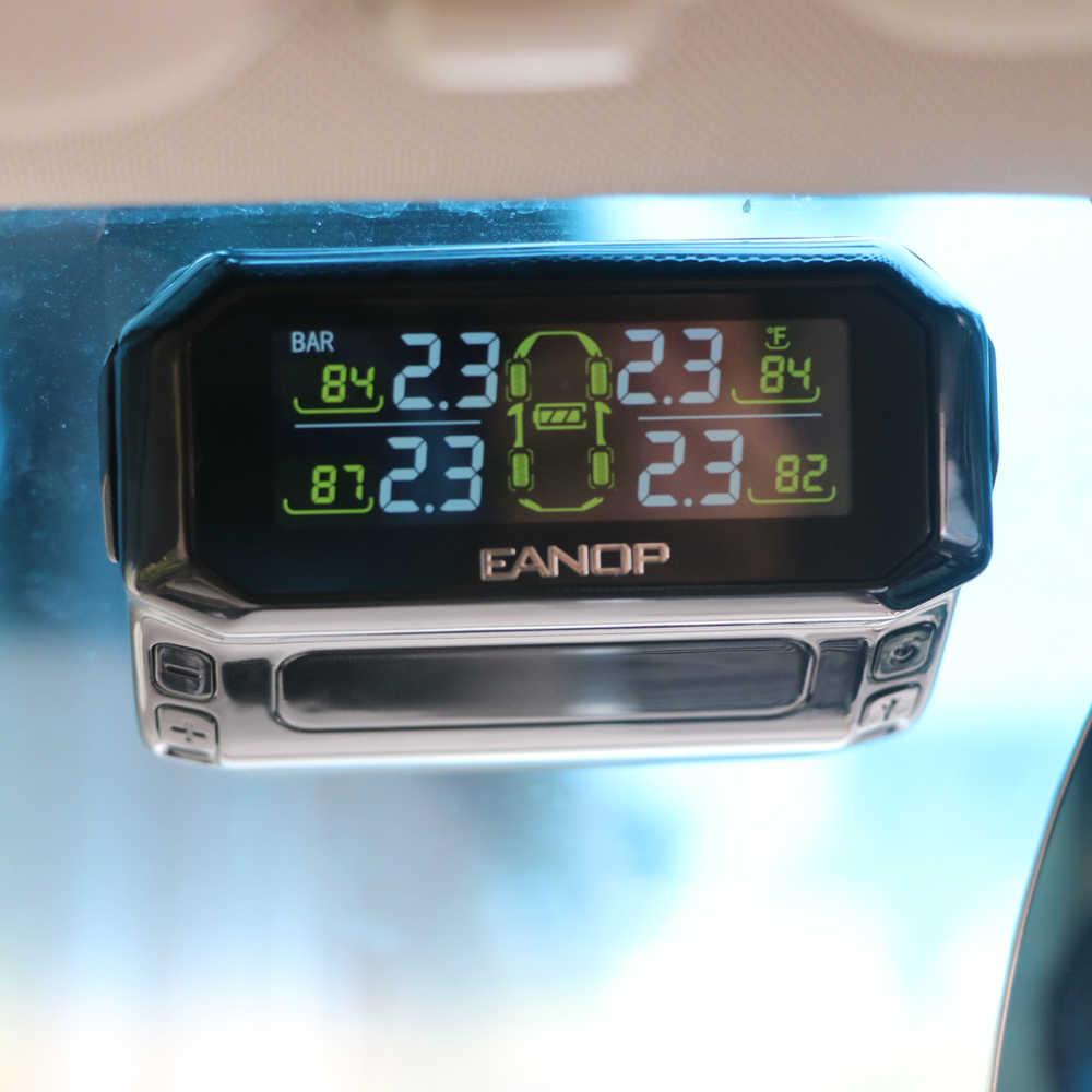 EANOP S600 с солнечной батареей USB TPMS автомобильный контроль давления в шинах сигнализация давление безопасности монитор 4 шт. внешние/внутренние датчики давления в шинах