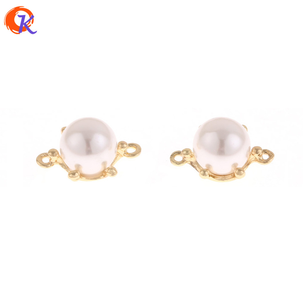 Cordial Design 100Pcs 11*18MM Earring Findings/Charms Connectors With Pearl/DIY/Earrings Making/Hand Made/Jewelry Accessories