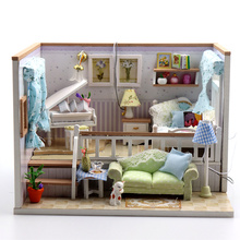 Doll House Miniature DIY Dollhouse With Piano Furnitures Wooden Toys For Children Birthday Gift