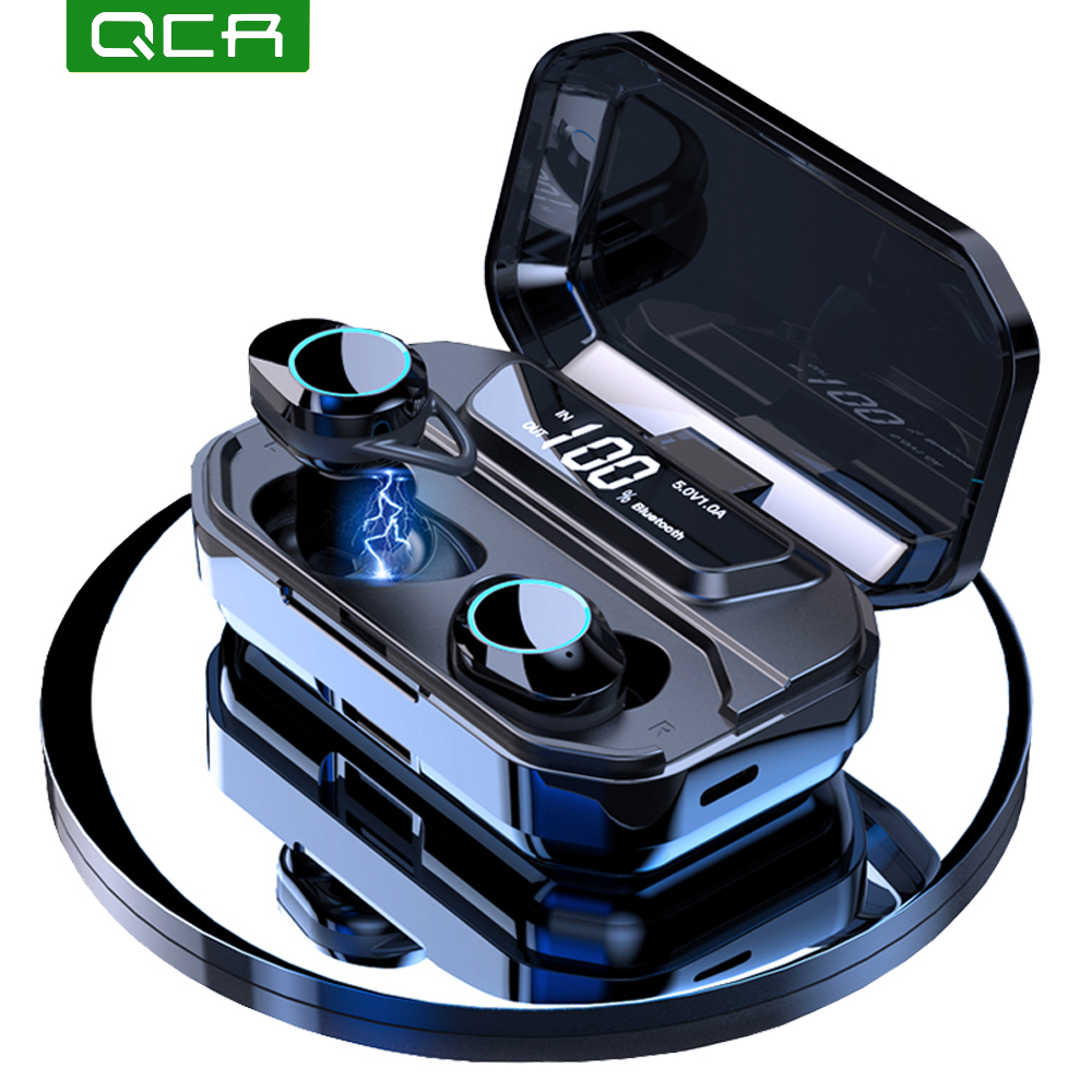 G02 TWS 5.0 Bluetooth 9D Stereo Earphone Wireless Earphones IPX7 Waterproof Earphones 3300mAh LED Smart Power Bank Phone Holder(China)
