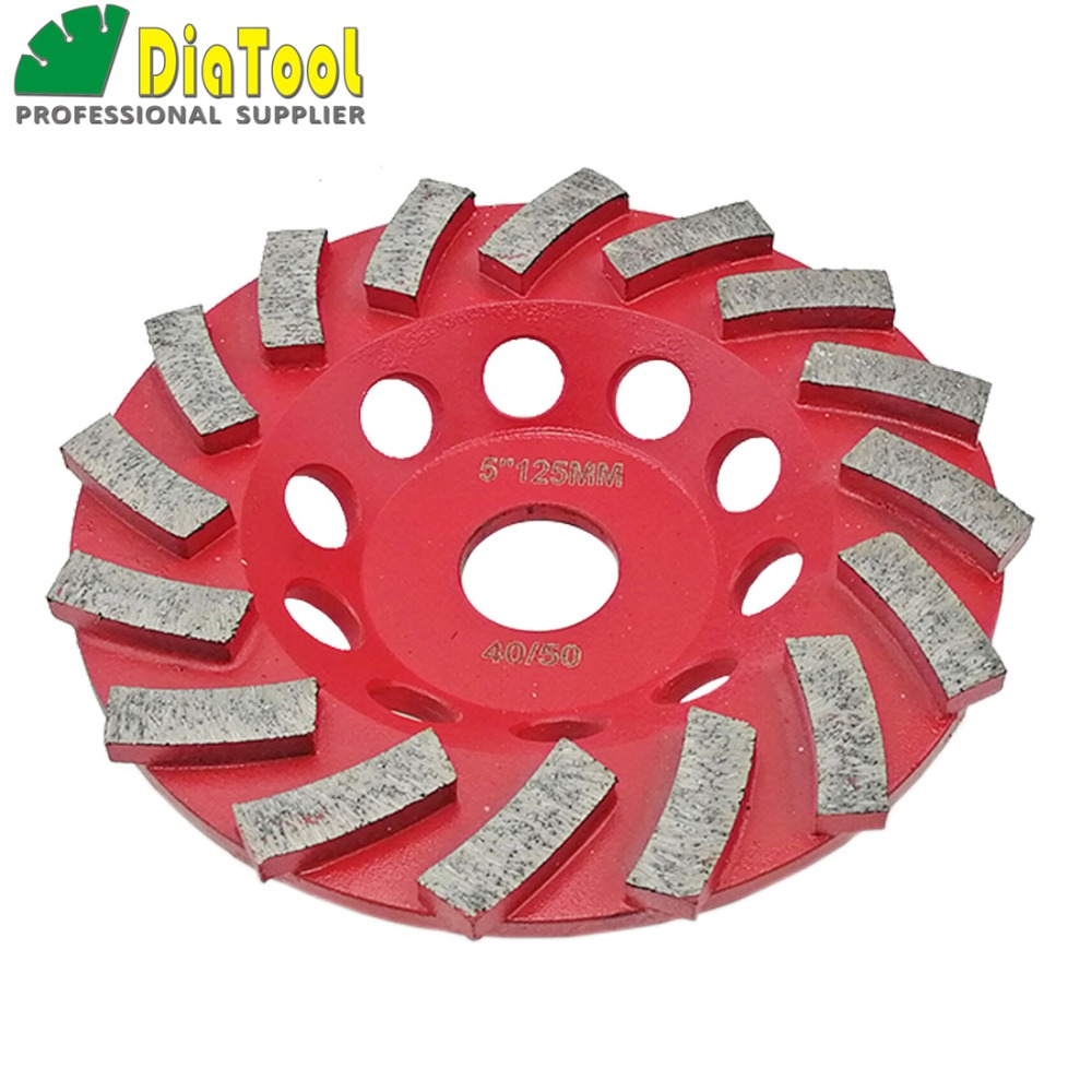 """Image 4 - DIATOOL Diamond Segmented Turbo Grinding Cup Wheel for Concrete and other construction material  4"""" 4.5"""" 5"""" 7"""" availablecup wheelgrinding cup wheelcup grinding wheel -"""