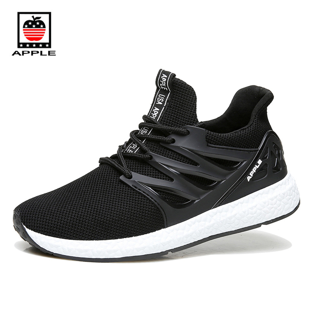 APPLE Summer New Arrival Breathable Mesh 3D Fly Knitting Men's Ultra boost  Running Shoes Soft Flexible