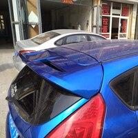 Para ford fiesta 2009 2010 2011 2012 2013 plástico abs sem pintura primer cor traseira do telhado tronco boot asa spoiler parte automóvel