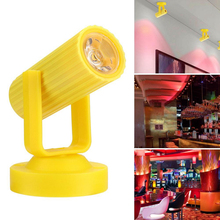 цена Super Bright Energy Saving Disco Stage Light Plastic Party Effect Lamp KTV DJ Disco Mini Adjustable Beam Party Home Lights онлайн в 2017 году