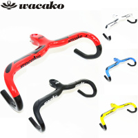 Wacako Full Carbon Fiber Road Bicycle Integrated Handlebar With 28 6mm Stem Carbon Road Handlebar Bike