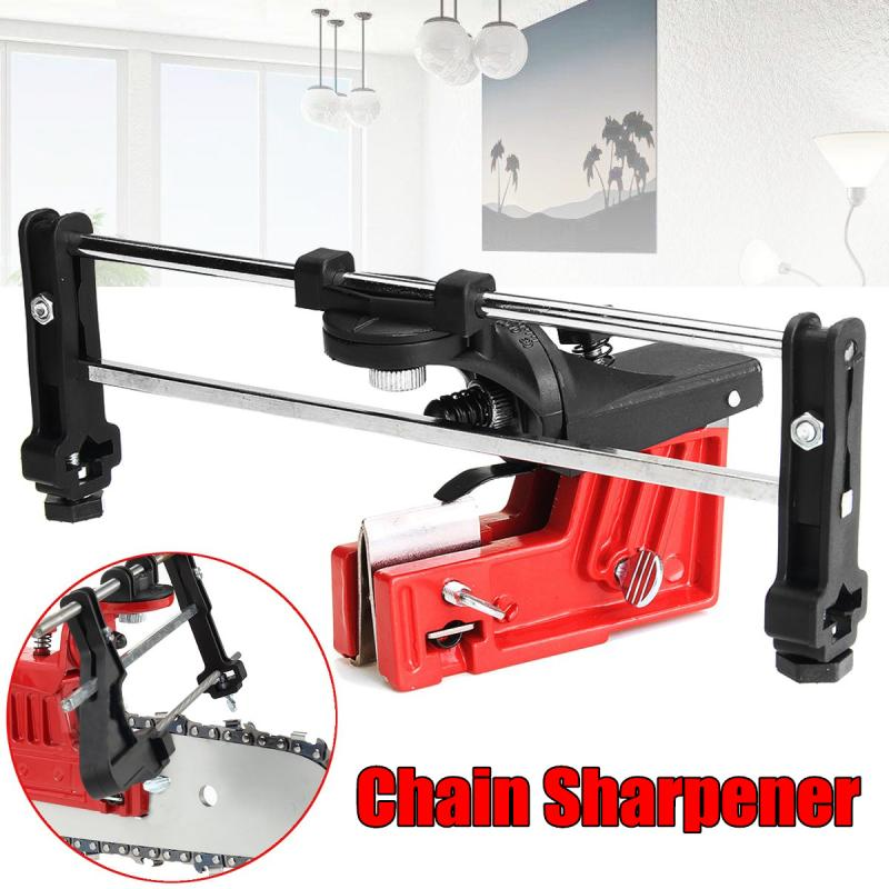 Universal Guide Sharpener Grinding Guide & Pro Lawn Mower Chainsaw Chain File for Garden Chain Saw Sharpener Garden Tools