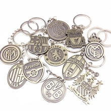 Football Club Leagues Keychain Metal Keyring Barcelona Real Madrided Key Holder Porte Clef Llaveros Chaveiro For Men Women