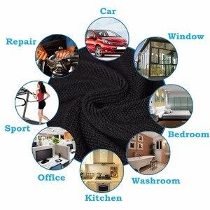 Image 5 - 20 teile/satz Auto Pflege Polieren Waschen Handtücher Mikrofasern Auto Detaillierung Reinigung Weiche Tücher Hause Fenster 30x40cm Schwarz