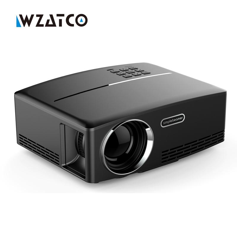 Prix pour WZATCO GP80 1800 lumens Portable HD home cinéma A MENÉ le Projecteur HDMI LCD Jeu PC Numérique Mini Projecteurs 1080 P Proyector 3D Beamer