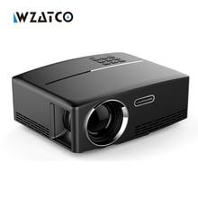 WZATCO GP80 1800 lúmenes Portátil HD de cine en casa HDMI LED LCD Del Juego PC Digital Mini Proyectores 1080 P Proyector 3D Beamer