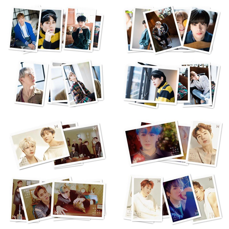 40pcs/set Kpop MONSTA X Album Lomo Photo Card HD Collective Photocard Paper Cards With Metal Box40pcs/set Kpop MONSTA X Album Lomo Photo Card HD Collective Photocard Paper Cards With Metal Box