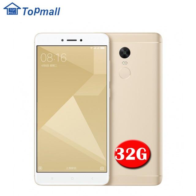 Оригинальный Xiaomi Redmi Note 4X мобильный телефон 32 ГБ ROM Snapdragon 625 Octa core 4100 мАч аккумулятора отпечатков пальцев ID 13.0MP камера