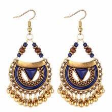 TRACYKWOK Bohemia Exaggeration Dangle Earrings For Women Sil