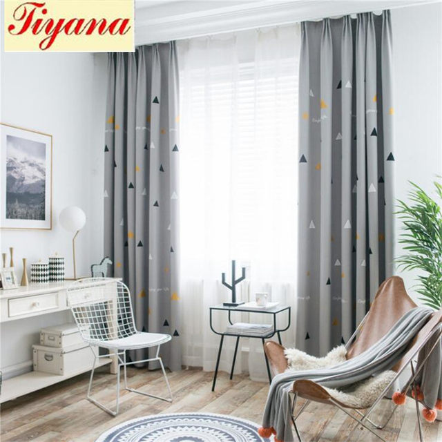 contemporary curtains for living room decorated rooms online shop fashion geometric custom curtain contracted image