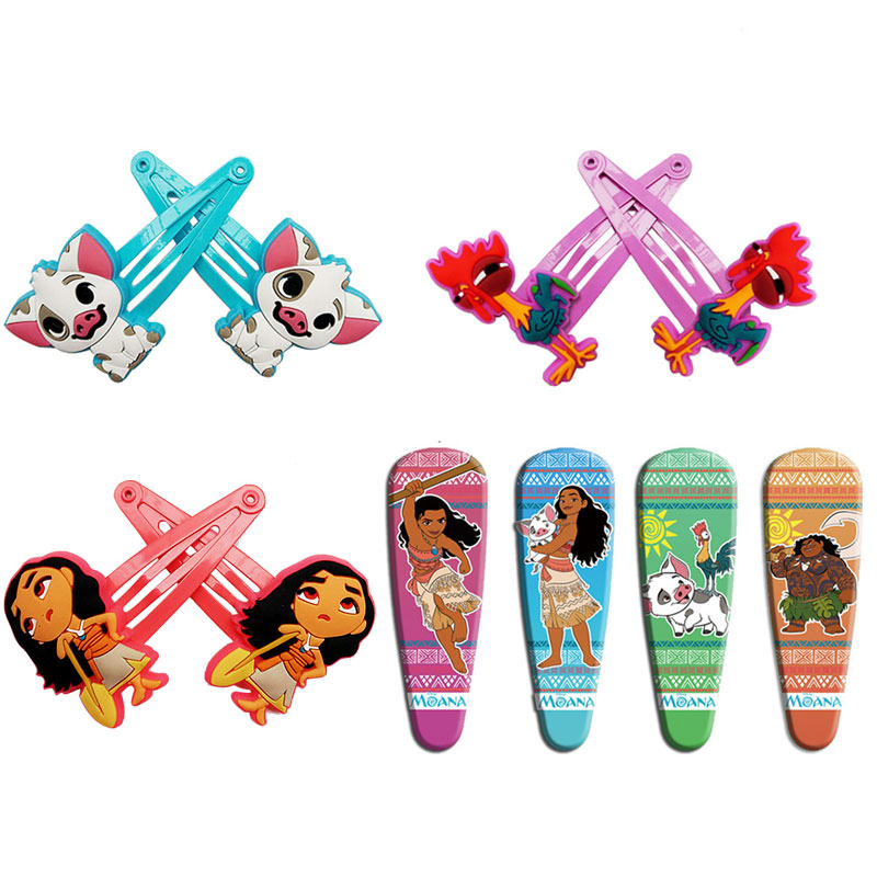 Movie Moana Princess Hair Pin Clip for Girls Maui Pua Heihei Chick Handan Spotted Pig Hairclips Kids Birthday Gifts 1 pair the latest test fixture sop8 pin bios clip width 8 pin universal adapter clip body clip clip burning chip