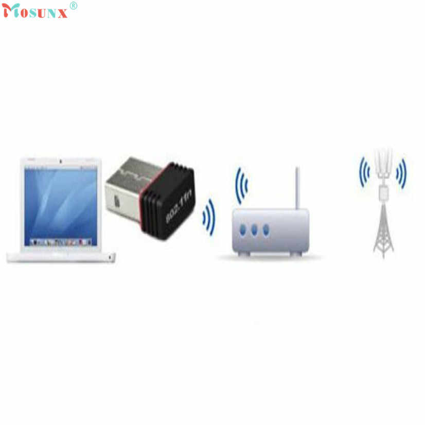 Hot sprzedaży wysokiej jakości bezprzewodowy 150 mb/s USB Adapter WiFi 802.11n 150 M Network karta LAN Au17 Z7 Drop Shipping