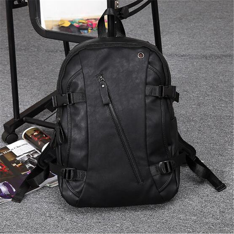 Hot Sales black15 Inch Men Backpacks Youth Travel Bags Computer Shoulder Bag 2016 New Preppy Style PU Leather Daily Backpack hot sales men s travel genuine leather durable black backpack fashion backpack laptop bag outdoor travel men s backpacks t6296