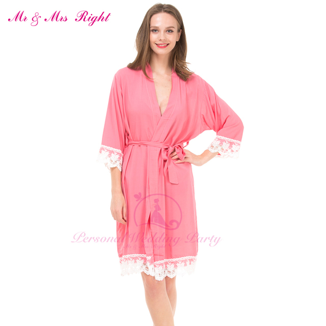 12 Colors Sexy Lace Robes For Women Casual Bridal Dresses Pregnant Women Kimono Bathrobes Gown Solid Party Nightdress