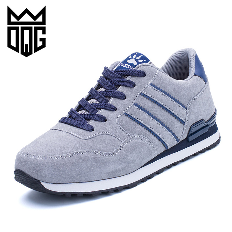 DQG Men Running Sport Shoes Sue Leather Athletic Shoes Autumn Plush Jogging Sneakers Outdoor Walking Shoes Men Trainning ShoesDQG Men Running Sport Shoes Sue Leather Athletic Shoes Autumn Plush Jogging Sneakers Outdoor Walking Shoes Men Trainning Shoes