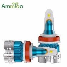 AmmToo H11 H7 LED Car Fog Lights 9005 HB3 9006 HB4 H10 H8 48W 6000LM Daytime Running Lights H1 Led Fog Lamp 3570 Chip 6000K 12V