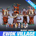 1990 шт. Лепин 05047 Star Wars Ewok Деревне Строительные Блоки Juguete para Construir Кирпичи Игрушки Совместимые с