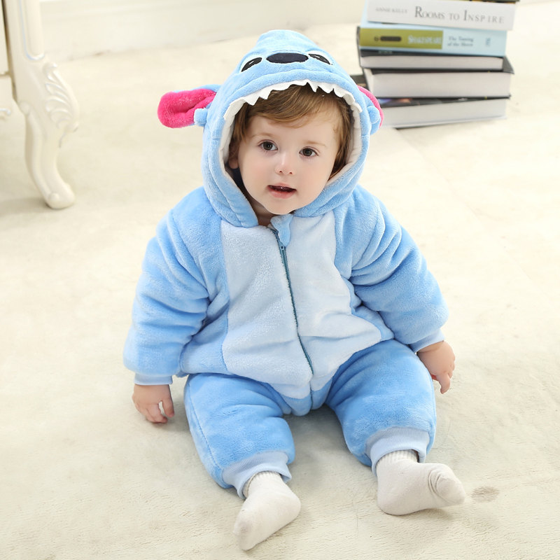 Christmas Baby Romper Blue Elephant Winter Cotton Baby Halloween Costume Infant & Toddlers Overalls 2018 Baby Clothes RL11-7