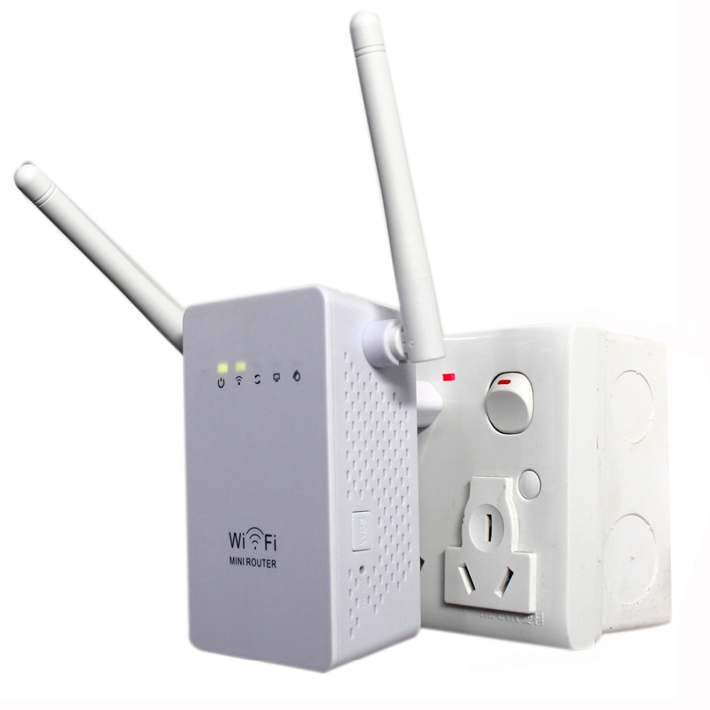 NOYOKERE Novi 300Mbps Ponovitveni modul WiFi Podaljševalnik omrežnega obsega Podaljševalnik N300 Enojno povečanje Dvojne zunanje antene EU US Plug