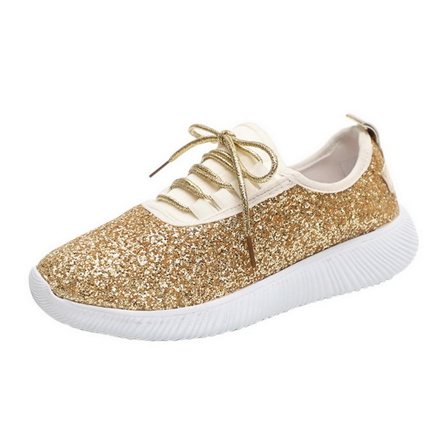 Laamei Gold Silver Shoes...