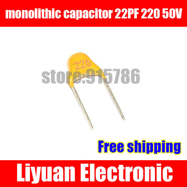 Free Shipping 30 x 100pF 50V Ceramic Disc Capacitors