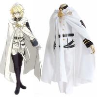 Seraph of the End Owari no Serafu Mikaela Hyakuya Vampire Military Uniform Cloak Cosplay Costume Halloween Clothing Set