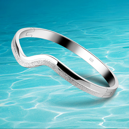 925 Sterling Silver Bangle For Women Fashion Pure Silver Bracelet Bangle Jewelry