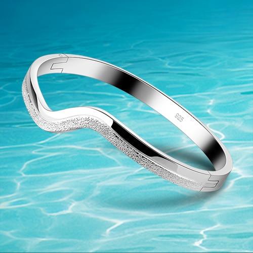 925 Sterling Silver Bangle For Women Fashion Pure Silver Bracelet Bangle Jewelry