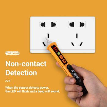AC 12 V-1000 V miernik napięcia w formie długopisu bezdotykowy wykrywacz napięcia Stick regulowany zakres dźwięk brzęczyka alarm świetlny Alert latarka VD901 tanie i dobre opinie PEAKMETER