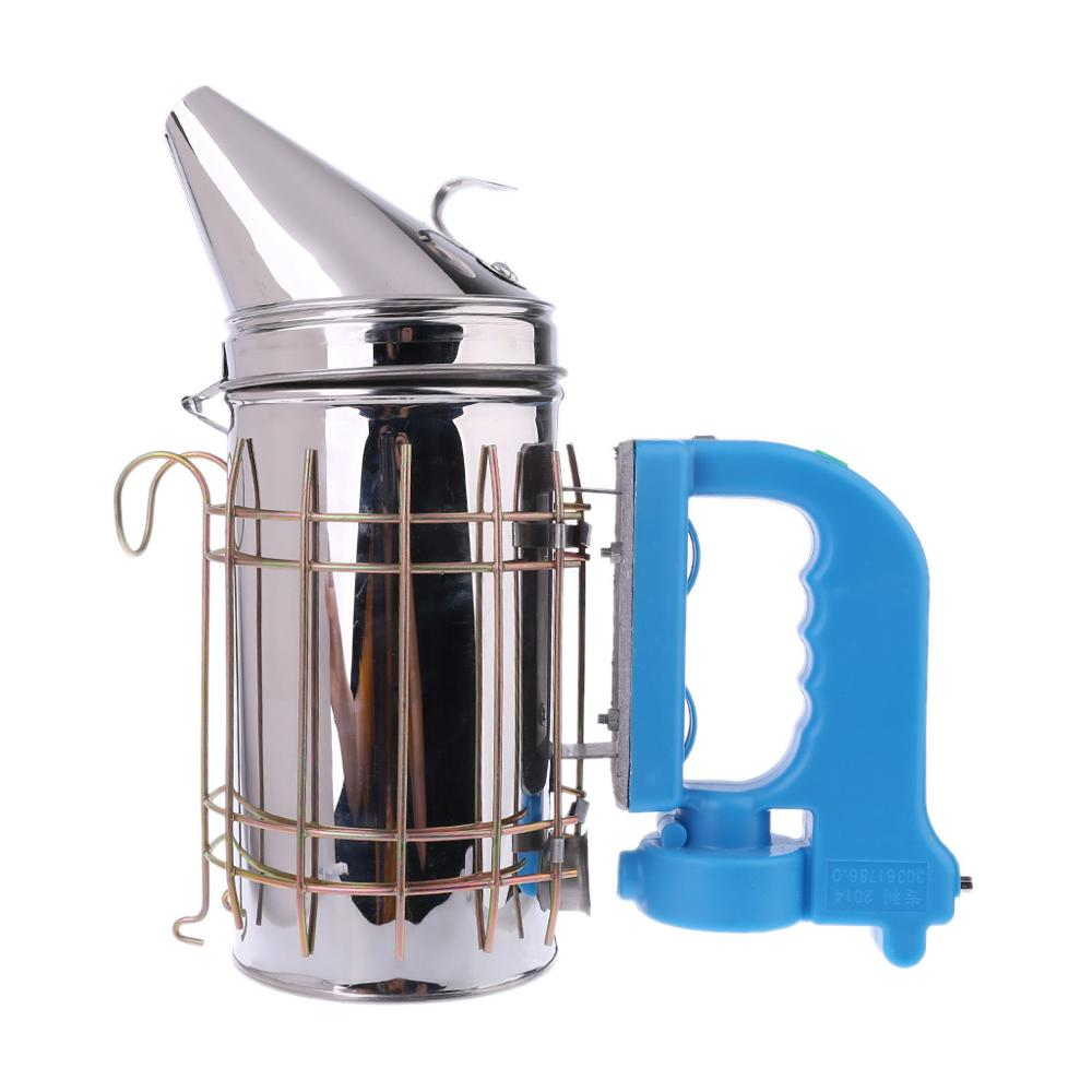 Electric Beekeeping Smoker Stainless Steel Manual Bee Farm Beekeeper Tool Equipment Smoke Garden Mites Treatment Supplies USB