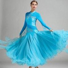 9 colors red blue ballroom dance competition dresses waltz dance dress fringe luminous costumes standard ballroom dress foxtrot