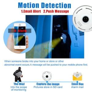 Image 4 - 960P מלא HD Fisheye 360 תואר פנורמי P2P IP המצלמה שתי דרך אודיו בית אבטחת CCTV VR מצלמת תמיכה TF כרטיס לבן מיני מצלמת