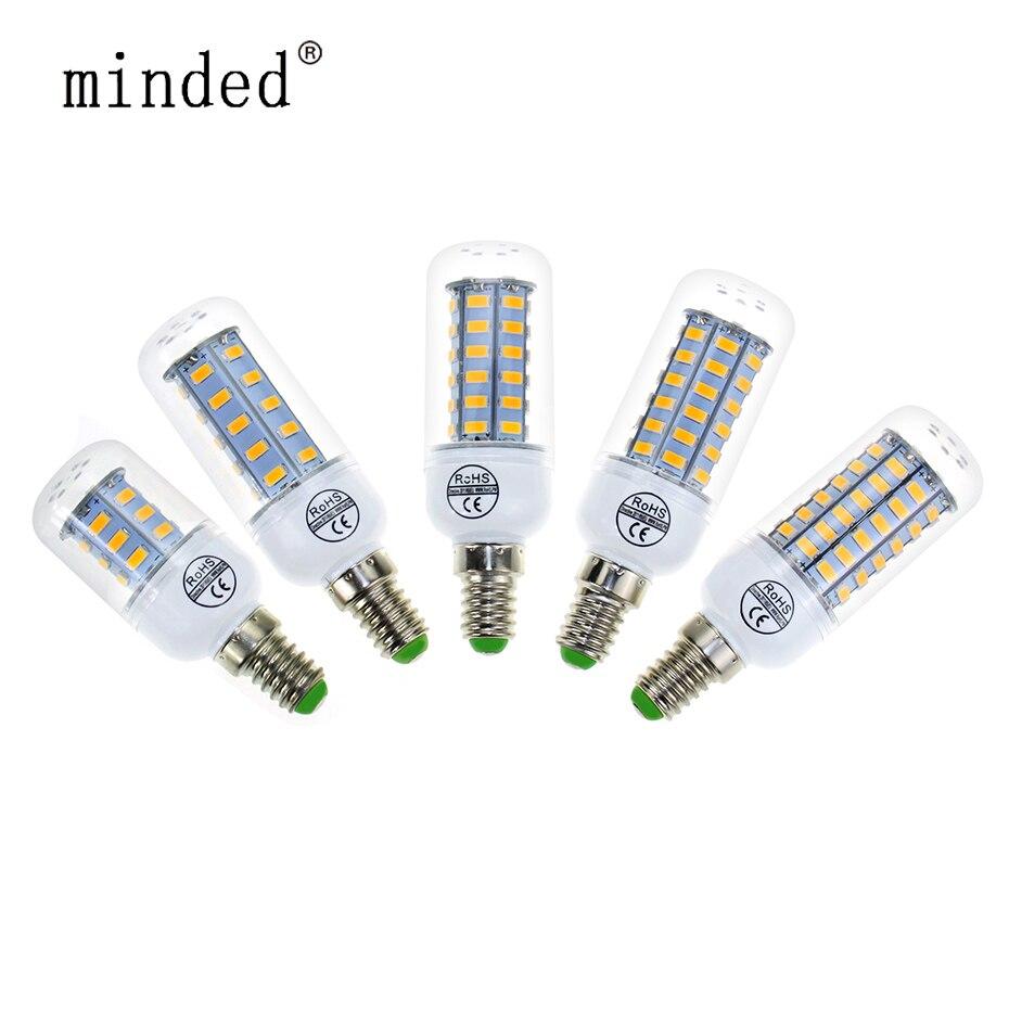 E27 E14 LED Bulb SMD 5730 LED Corn Bulbs 220V 24 36 48 56 69leds Lamp LED Bulb Lamp Chandelier LEDs Candle Light Spotlight