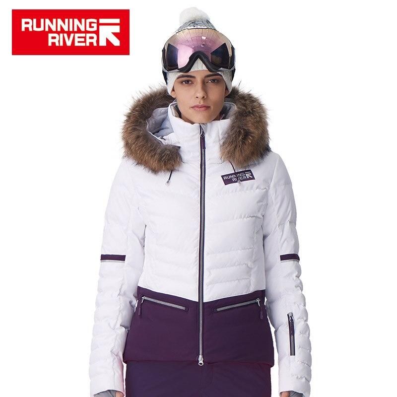 RIVIÈRE qui COULE Marque Femmes Ski Veste 4 Couleurs Taille S-2XL Étanche Ski Neige Veste Femmes D'hiver Sports de Plein Air Manteau # D7150