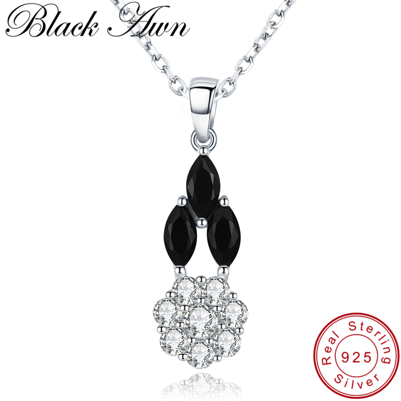 [BLACK AWN] 925 Sterling Silver Necklace for Women Classic