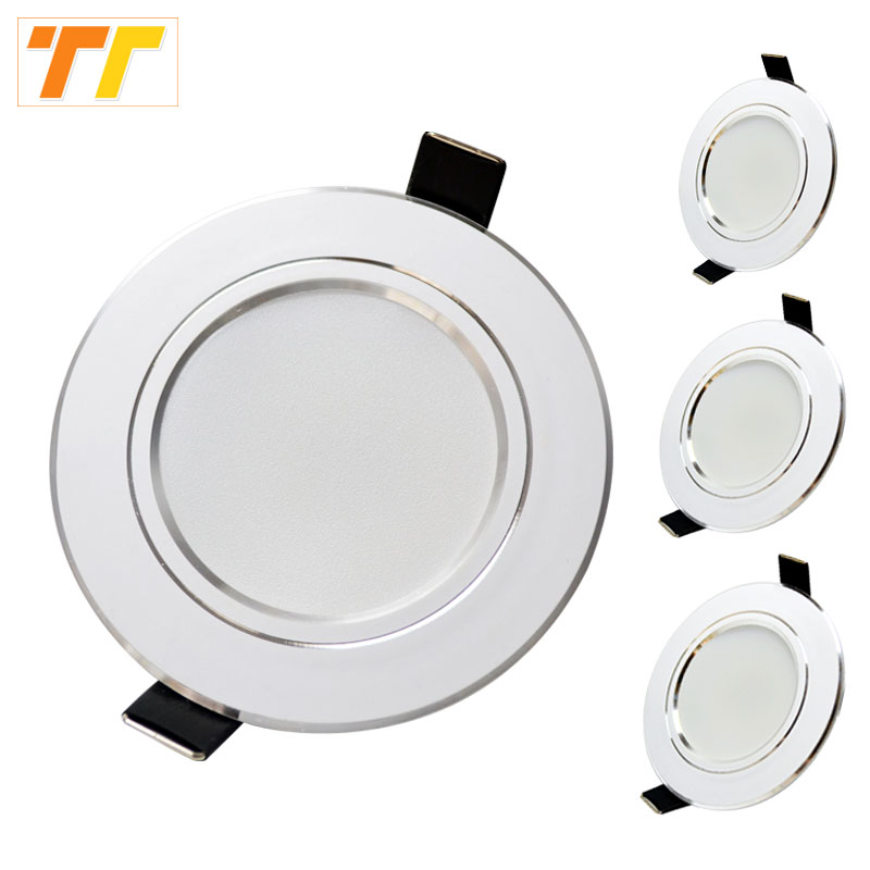 10 Pcs Lot Led Downlight Lamp 3w 5w 7W 9w 12w 15w 18w 230V 110V Ceiling Recessed Downlights Round Led Panel Light Free Shipping(China)