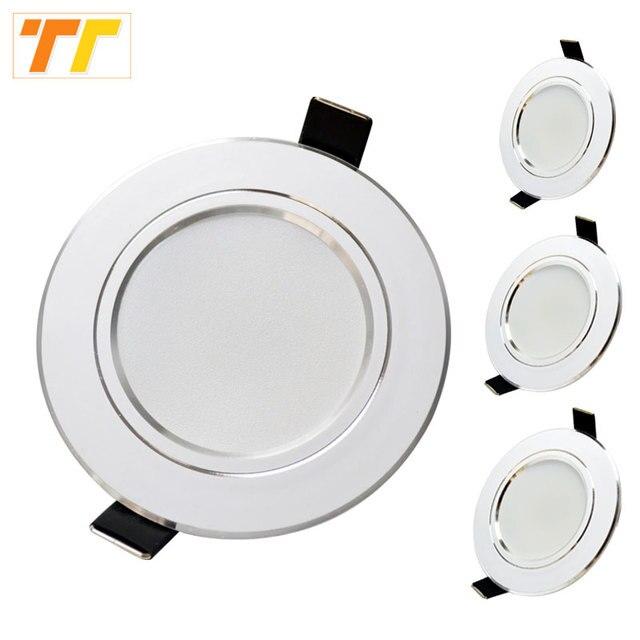 10 pcs 많은 led 통 램프 3w 5w 7W 9w 12w 15w 18w 230V 110V 천장 recessed downlights 라운드 led 패널 빛 무료 배송