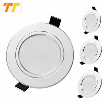 10 pcs lot led downlight lamp 3w 5w 7W 9w 12w 15w 18w 230V 110V ceiling recessed downlights round led panel light free shipping - DISCOUNT ITEM  41% OFF All Category