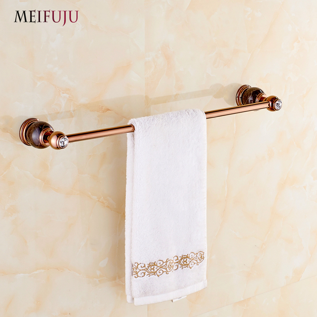 buy luxury bathroom accessories rose gold marble single towel bars hotel jade. Black Bedroom Furniture Sets. Home Design Ideas